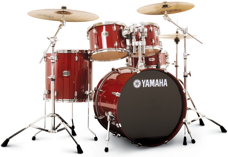 yamaha stage custom beginner drum set